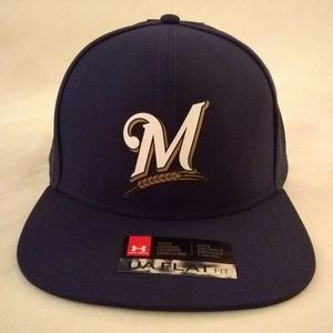 NWT UnderArmour Super Vent Milwaukee Brewers hat